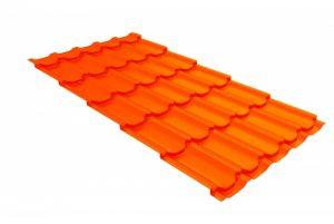 Металлочерепица квинта плюс 0,45 PE RAL 2004 оранжевый